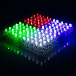 100pcs LED Light Up Finger Rings Glow Kids Children Party Fa