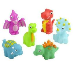 12 assorted 3 rubber water squirting dinosaurs