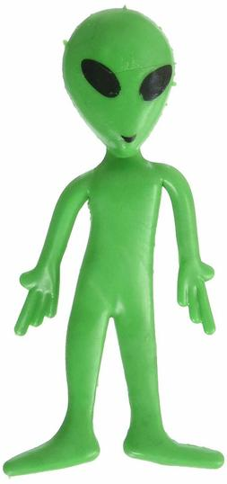 12 Green Bendable Classic Alien Toy Party Favor Gift Costume