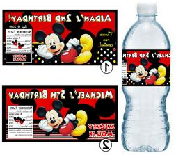 20 MICKEY MOUSE BIRTHDAY PARTY FAVORS WATER BOTTLE LABELS ~