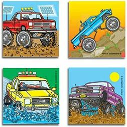 20 Monster Truck STICKERS Party Favors Supplies Birthday Tre