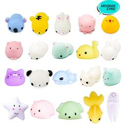 20Pcs Squishy Toy, LEEHUR Party Favor Mini Cute Squeeze Funn