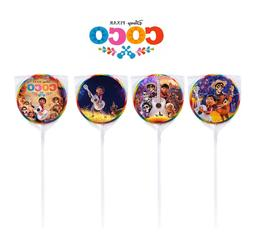 24 Disney Coco Miguel Movie Stickers Round Labels for Bag Lo