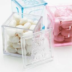 24 Fillable Blocks Baby Shower Favors Blue Pink Party Decora