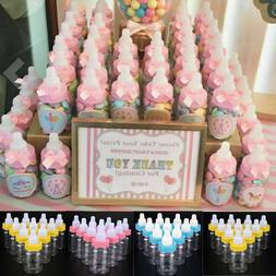24X Fillable Bottles for Baby Shower Favors Blue Pink Party