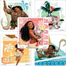25 Disney Moana Stickers Party Favors Teacher Supply - Maui