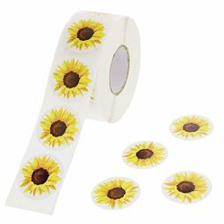 25 Sunflower Stickers Party Favors Teacher Supply envelope s