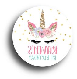 30 Unicorn Face Personalized Birthday Party Favors Treat Bag