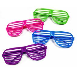 Rhode Island Novelty 24 Pairs of 80's Sunglasses Party Favor