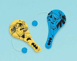 Amscan Awesome Batman Birthday Party Paddle Ball Favor , 4 1