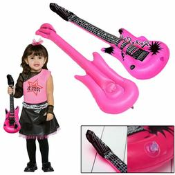 Inflatable Rock Guitar 22 Inches  Kids Pool Party Favor Set