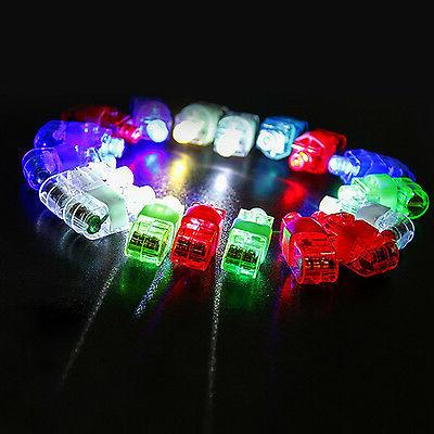 100pcs LED Up Finger Rings Kids Children Toys