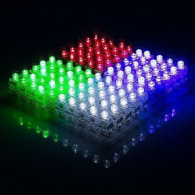 100pcs led light up finger rings glow