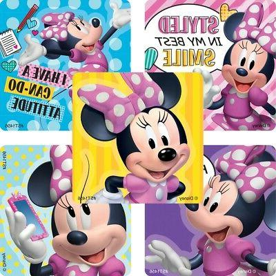 25 minnie mouse stylin stickers party favors