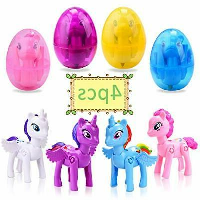 4 pack deformation easter eggs with toys