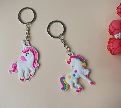 YUEAON 30 Unicorn Keychain Party Favors Supplies gifts for