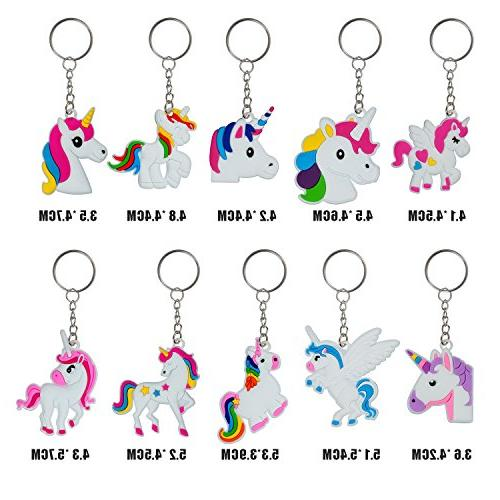 YUEAON pack Unicorn Keychain Party Favors Supplies Birthday gifts for
