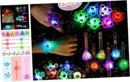 LEEHUR Light Up LED Kids Birthday Party Favors 18pcs Glow in