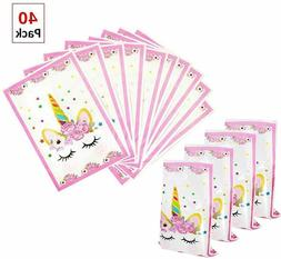 Magical Unicorn Party Favors Bags Supplies Set For Kids Them