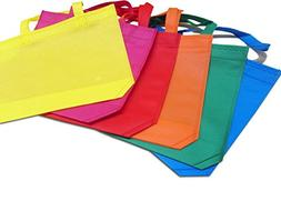 dazzling toys Party Favor Tote Gift Bags with Handles - Poly