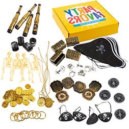 Juvale 100-Pack Pirate Party Favors - Pirate Theme Birthday