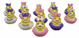 Set of 12 Princess Ducks Assorted Styles Girl Party Favors Y