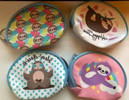 Sloths Coin Purse Kids Set Of 4 Sloth Purses Childs Party Fa
