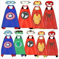 Superhero Capes and Masks for Kids Teen Adult Boys Girls Cos